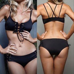 Lace up bikini